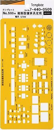 ウチダ テンプレート No.509+ 建築設備家具定規 7-440-0509
