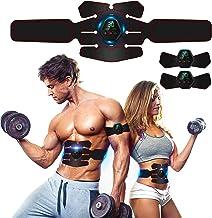 Rootok Elektrisch stimulerend apparaat voor buikspieren, elektrische massagegordel met USB, stimulatie van de spieren, ele...