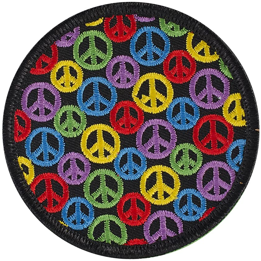 Patches For Everyone Iron-On Appliques-Multi Peace Signs