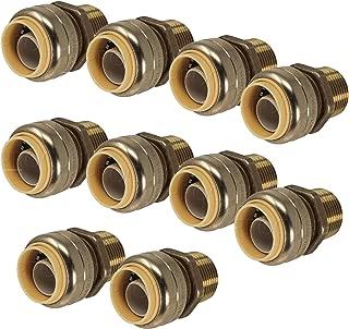 PROCURU 3/4-Inch PushFit MNPT Male Adapter, Plumbing Fitting for Copper, PEX, CPVC, PE-RT Pipe, Lead Free (3/4