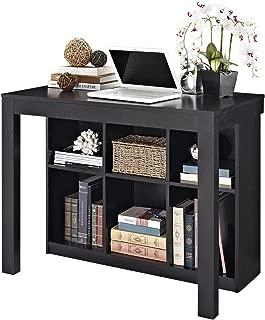 Ameriwood Home Parsons Desk with Cubbies, Black