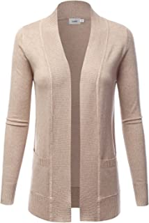 LALABEE Women's Open Front Pockets Knit Long Sleeve...