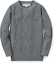 Hope & Henry Boys' Long Sleeve Crew Neck Pullover Sweater