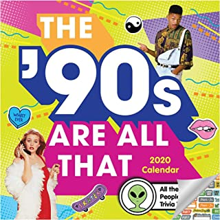 The 90's are All That Calendar 2020 Set - Deluxe 2020 The 90's Wall Calendar with Over 100 Calendar Stickers (Nineties Gifts, Office Supplies)