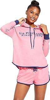 Womens Cuffed Sleeve Athletic Hoodie Sweatshirt and...