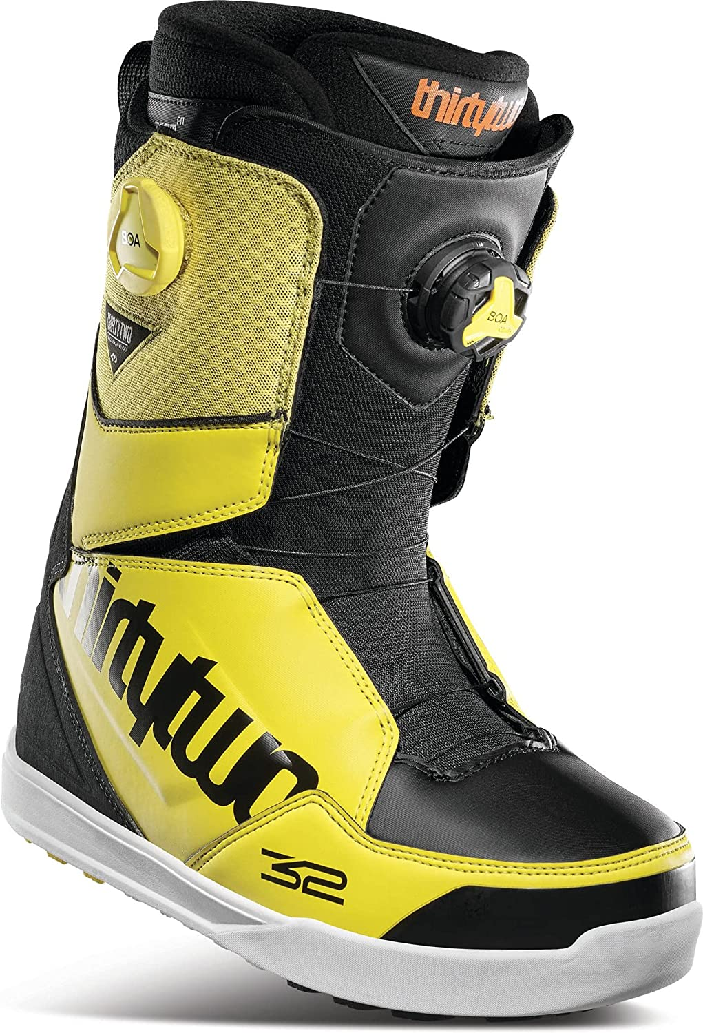 Thirty Two Lashed Double Max 67% OFF BOA Mens Boots Yellow S Direct sale of manufacturer Black Snowboard