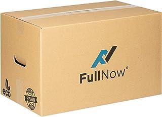 FULLNOW Pack 10 Cajas Cartón Grandes con Asas para Mudanza