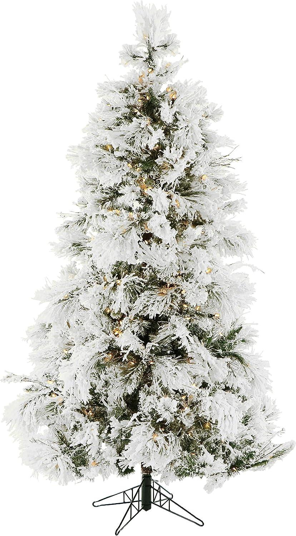 Fraser Max 43% OFF Hill Farm 4.0-Foot Pre-Lit Flocked Las Vegas Mall Slim Christ Pine Snowy