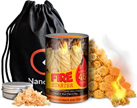 NANOO AND BEE Portable Fire Starters, Kick-Start Your Fireplace, Grill, Wood Stove, Pit, BBQ, Charcoal, Chimney, Pizza Ove...