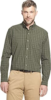 Arrow 1851 Men's Hamilton Poplins Long Sleeve Button Down Plaid Shirt