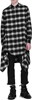 COOFANDY Mens Fashion Casual Long Sleeves Hipster Hip Hop Button up Plaid Long Shirt