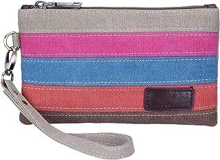 Women's Canvas Smartphone Wristlets Bag, Clutch Wallets Purses for iPhone 6S/7 Plus/8 Plus/X