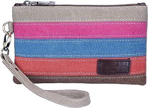 Lecxci Women's Canvas Smartphone Wristlets Bag, Clutch Wallets Purses for iPhone..