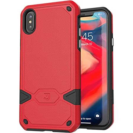 Jaagd Slim Dual-Layer Combo Case for iPhone X and Xs, Red
