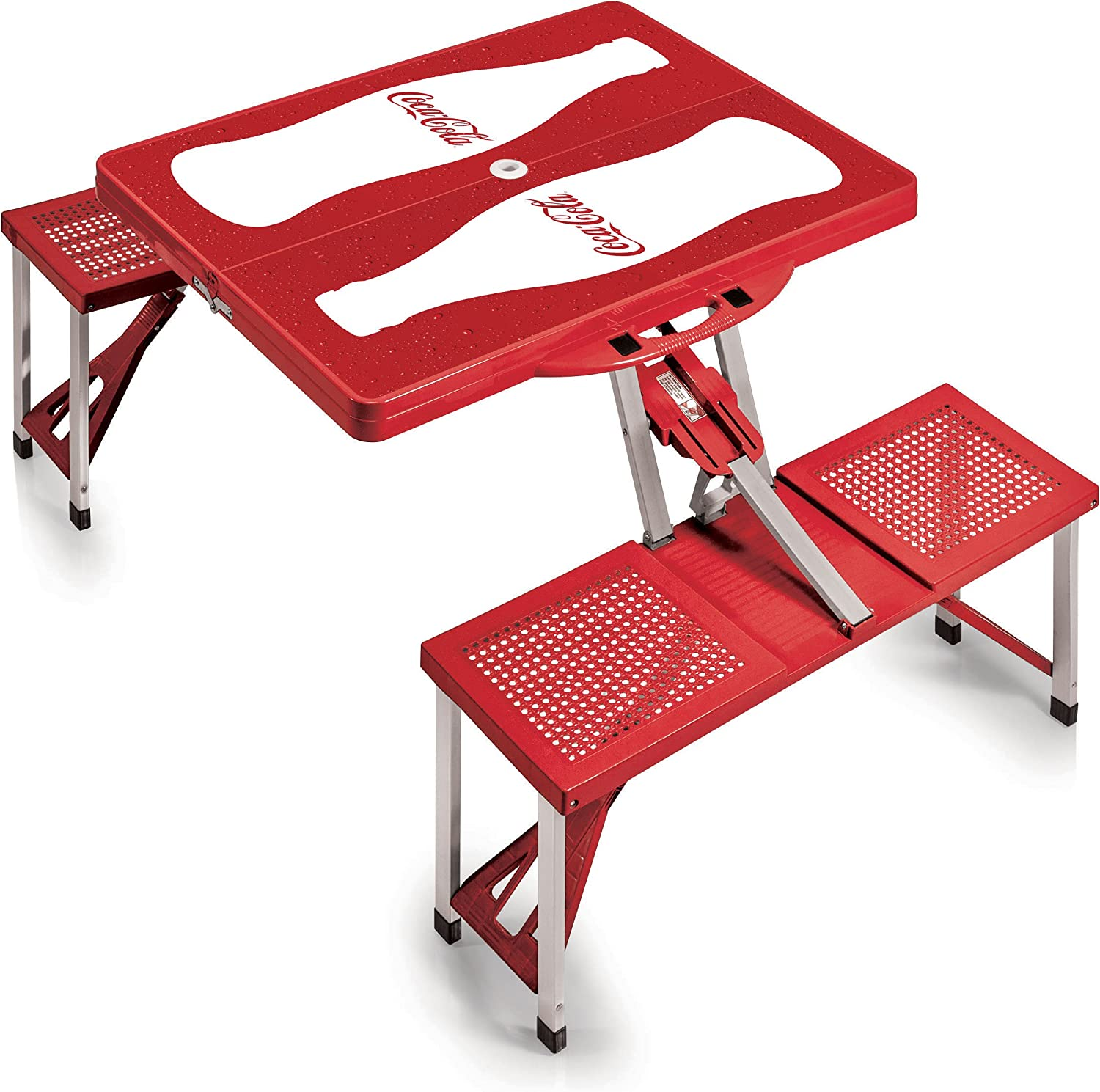 Picnic Time CocaCola Portable Picnic Table with Seating for 4, Bottle Print