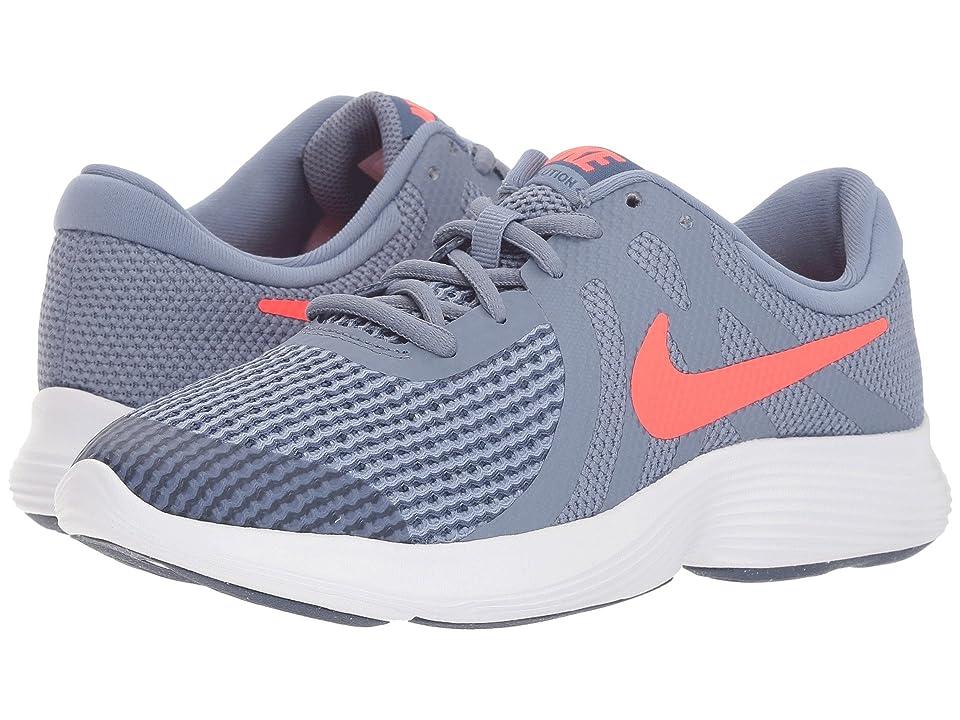 Nike Kids Revolution 4 (Big Kid) (Ashen Slate/Flash Crimson/Diffused Blue) Boys Shoes