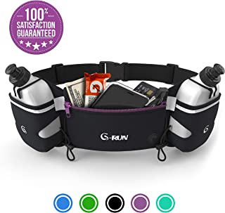 G-RUN Hydration Running Belt with Bottles – Water Belts for Woman and Men –..