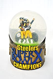 Rare Pittsburgh Steelers Super Bowl 10 (x) Champions collectible snow Globe