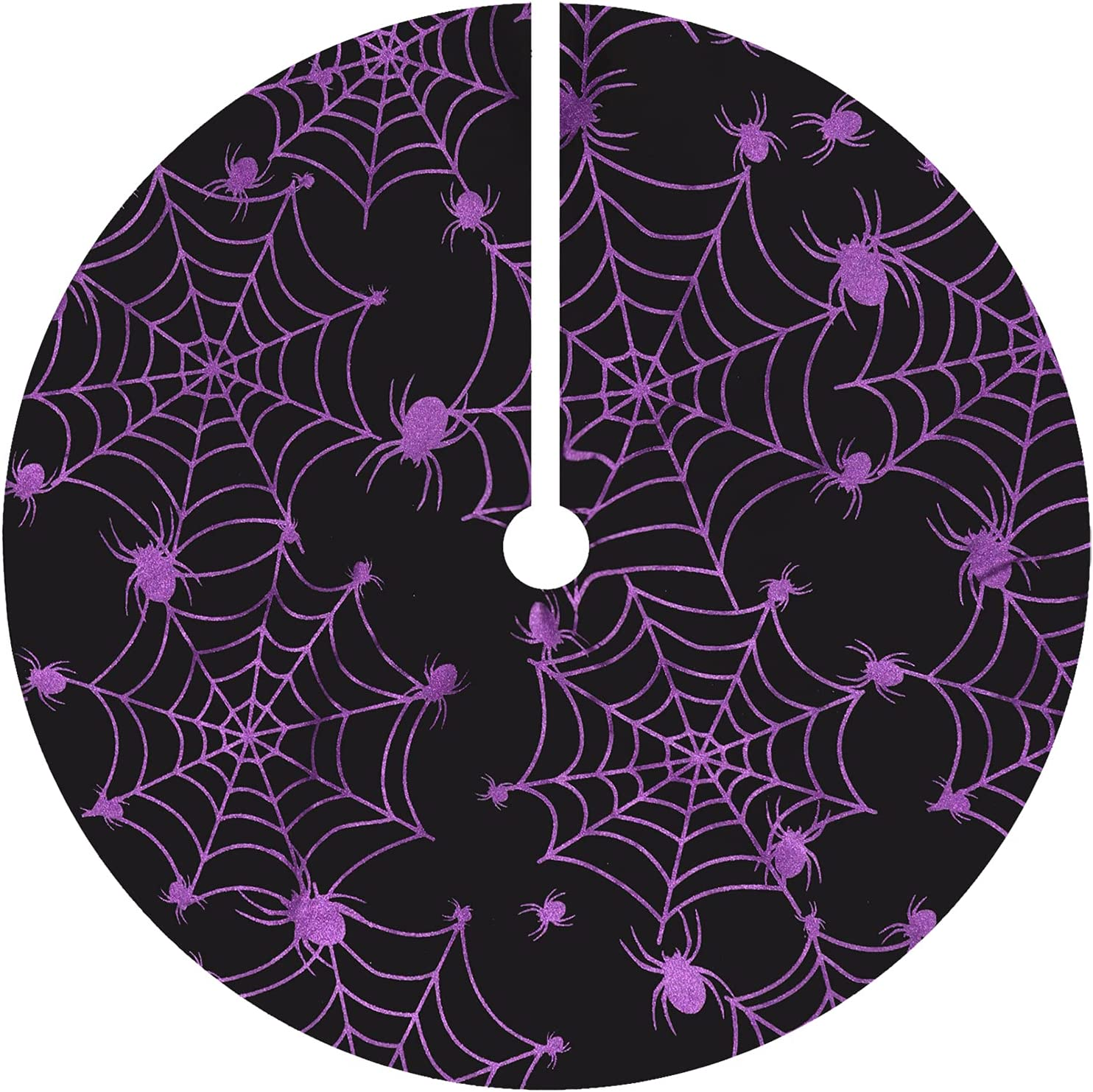 Halloween 36 Inches Tree Fashion Fees free!! Skirt Purple Spider with Net Christmas