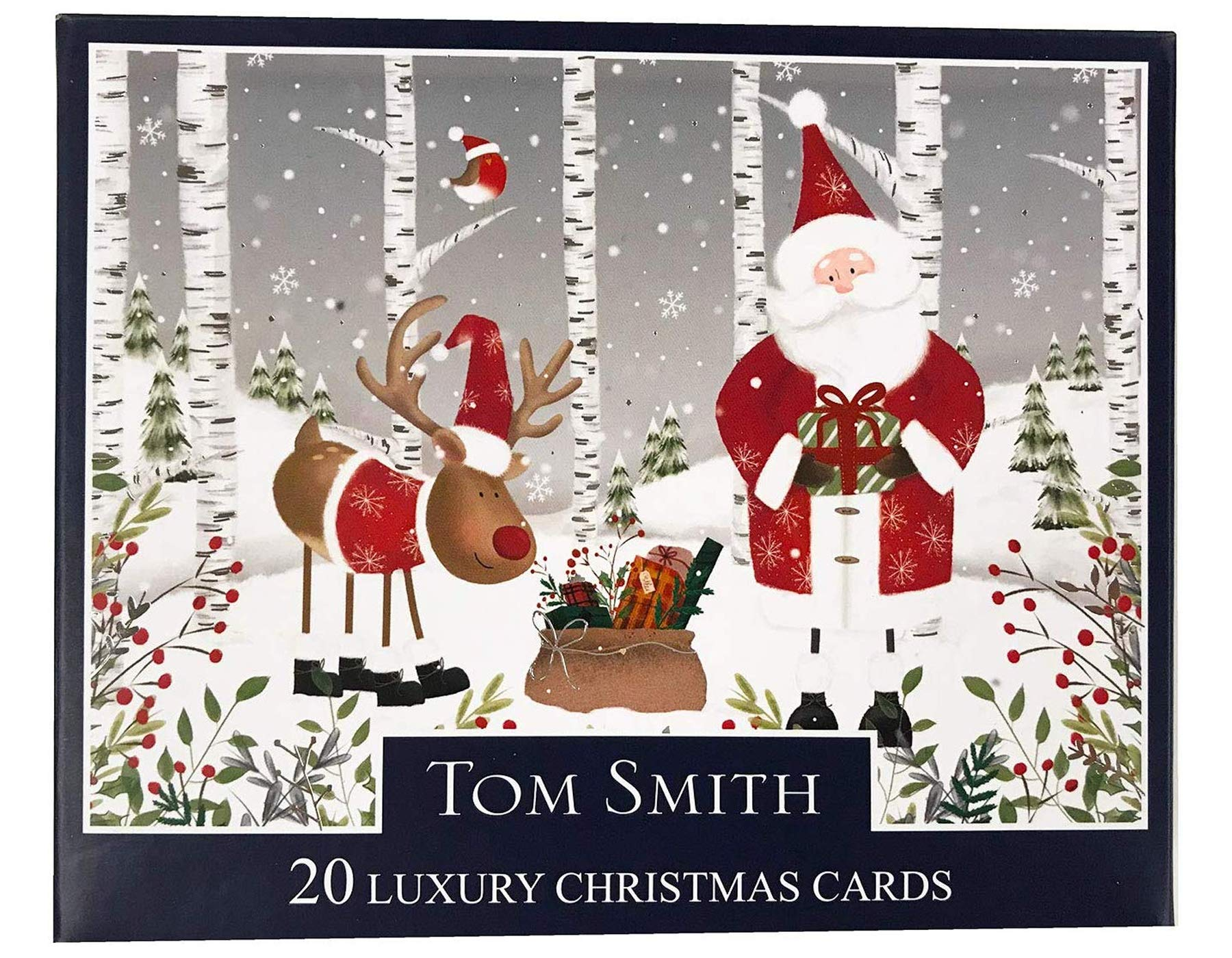 Tom Smith Boxed Traditional Christmas Cards Pack Of 20 Santa Rudolph Buy Online In India Missing Category Value Products In India See Prices Reviews And Free Delivery Over 4 000 Desertcart