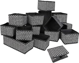 Zorara Boite Rangement, Lot de 12 Boites de Rangement de Non-tissé,Organisateur de Tiroir Pliable Non-tissé pour sous-vète...