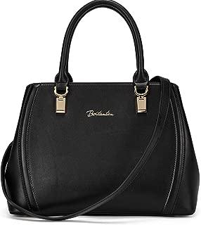 BOSTANTEN Women Leather Handbag Designer Top Handle Satchel Shoulder Bag Crossbody Purses