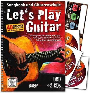 Let 's Play Guitar banda 1con 2CD, DVD y de música de tarjeta de Schubert Púa de guitarra Songbook y Escuela: Guitarra para aprender a Jugar con 40guitarra clásicos–Verlag HAGE–eh37579783866261587