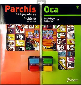 Oferta amazon: Fournier - Tablero Parchís/Oca y fichas, 40 x 40 cm, para 4 Jugadores (F29467)
