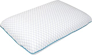 SHARPER IMAGE Memory Foam Pillow with Triple Layer Plush Exterior, Cushioned Surface and Firm Support Visco Elastic Core