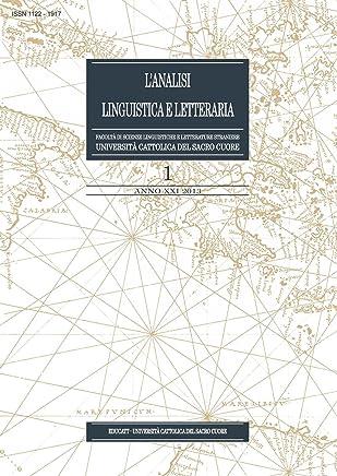 LAnalisi Linguistica e Letteraria 2013-1