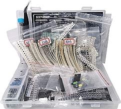 SMD 1206 0805 0603 Component Assortment, Resistor, Capacitor, Diode, Transistor, LED, OpAmp, IC, Solder, PCB, SMT Soldering Assorted Kit 2700 pcs