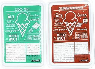 ISUPREME 糖質オフ チョコレート アイス チョップドチョコ味&チョコミント味セット(1000ml×2) 幸せのヘルシーアイス