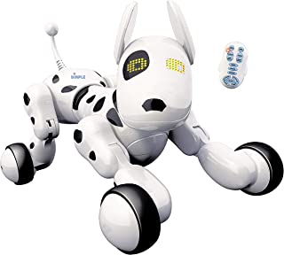 Dimple DC13991 Interactive Robot Puppy with Wireless Remote Control Kids Robot Dog Toy Electronic Pet that Sings Dances Ey...