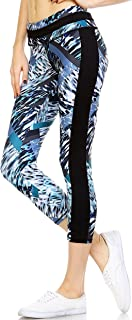 Mono B Women's Performance Activewear-Yoga,  Workout, Running for Capri Leggings