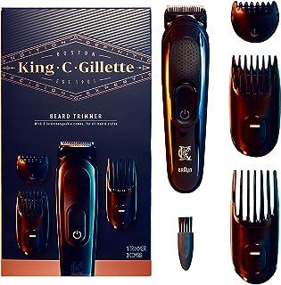 کیت اصلاح کننده ریش مردانه King C. Gillette Cordless با 3 شانه قابل تعویض