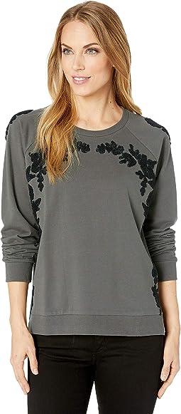 Floral Chenille Sweatshirt