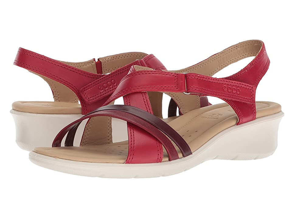ECCO Felicia Sandal (Chili Red/Chili Red/Bordeaux) Women