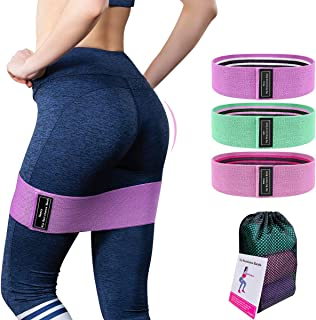 JUREX Resistance Bands Booty Exercise Fitness Loop for Legs and Butt, Home Workout Yoga Hip Stretch Bands Fabric Elastic N...