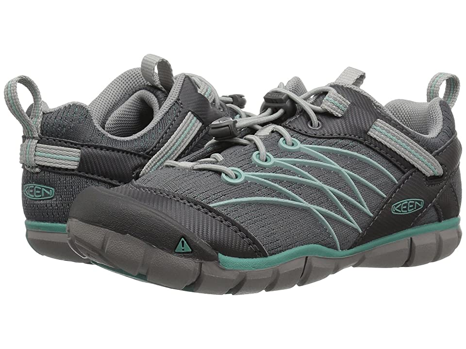 Keen Kids Chandler CNX (Little Kid/Big Kid) (Steel Grey/Wasabi) Girls Shoes