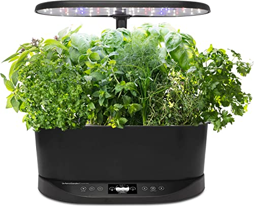 AeroGarden Bounty Basic Indoor Hydroponic Herb Garden, Black