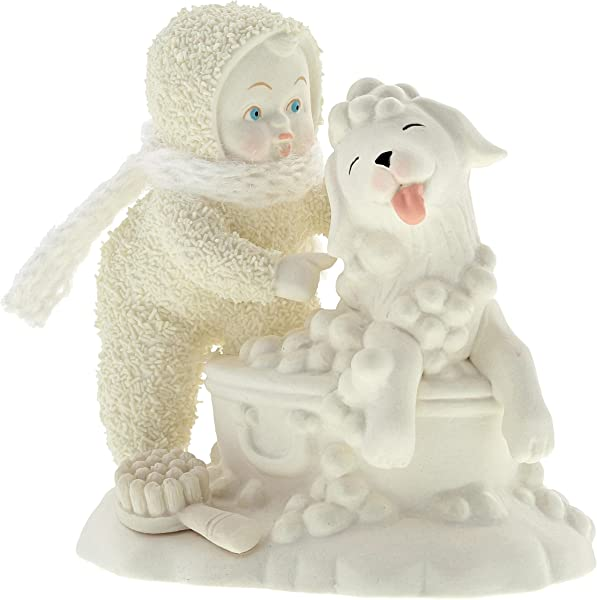 Department 56 Snowbabies Bath Time Porcelain Figurine 4