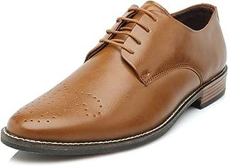 Heels & Shoes Men's Wholecut Oxford Tan Faux Leather Shoes