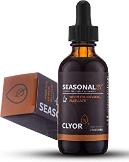 Seasonal37 - Cold Remedy - Fast Acting Cold Relief - W/ Elderberry, Ginger & Echinacea 2oz - All Natural Herbal Immune Booster Cold Flu Cough Respiratory Congestion, - SEASONAL37 by Clyor
