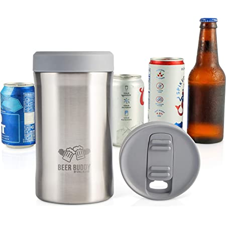 Vacuum insulated beer bottle can Cooler stubby holder 12 hrs Best gift!
