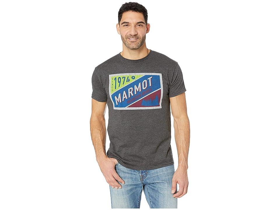 Marmot Mountain Tab Short Sleeve T-Shirt (Charcoal Heather) Men