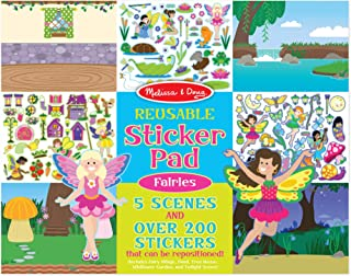 Melissa & Doug Reusable Sticker Pad: Fairies (200+ Stickers)