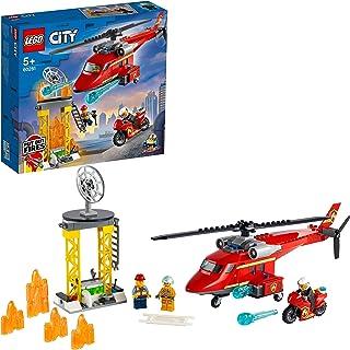 LEGO City 60281 Strażacki helikopter ratunkowy; ciekawy zestaw ze strażą pożarną dla dzieci (212 elementów)