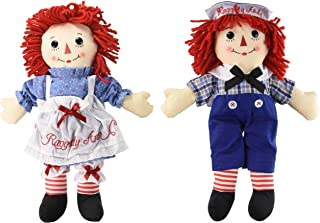 Bundle of 2 Aurora Dolls - Large 16'' Classic Raggedy Ann and Raggedy Andy