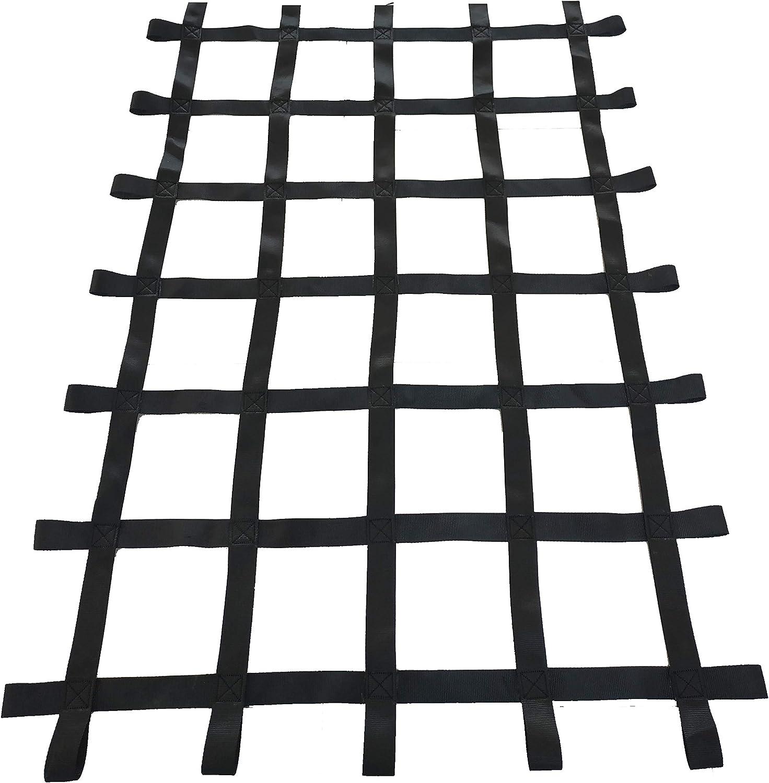 Fong 6 ft X 4 ft Climbing Cargo Net Black (72 inch x 48 inch) -