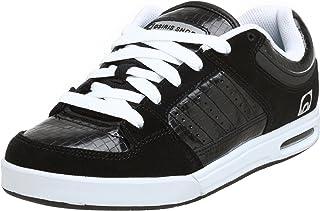 Osiris Men's Rattray Sneaker,Black/White/Woven,5.5 M